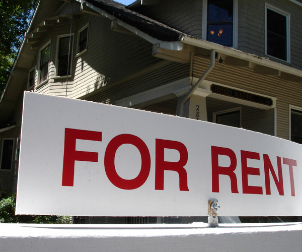 Image of a for rent sign